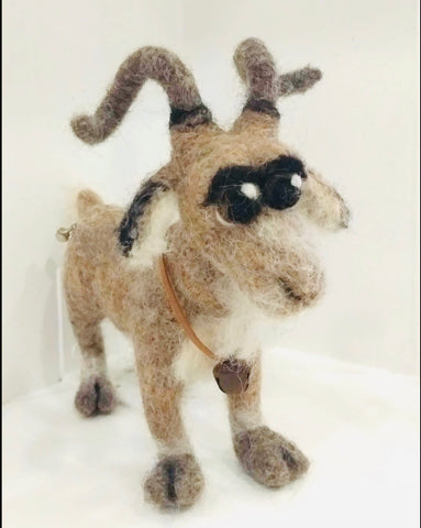 Goat - needle-felted by Night Owl Needle Felts