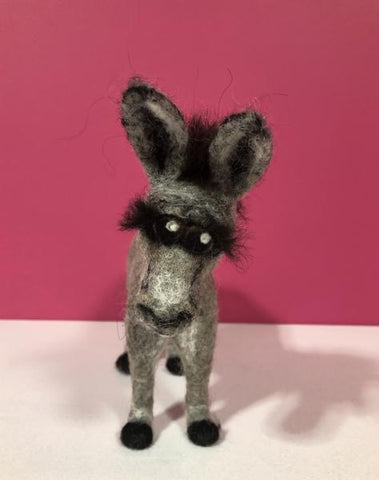Donkey - needle-felted by Night Owl Needle Felts