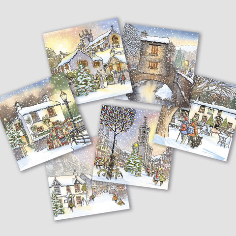 Nostalgia Lake District Christmas cards - pack of 6