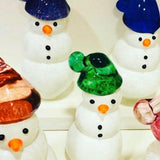 Hand Sculpted Blown Snowmen by Jess Davids Glass