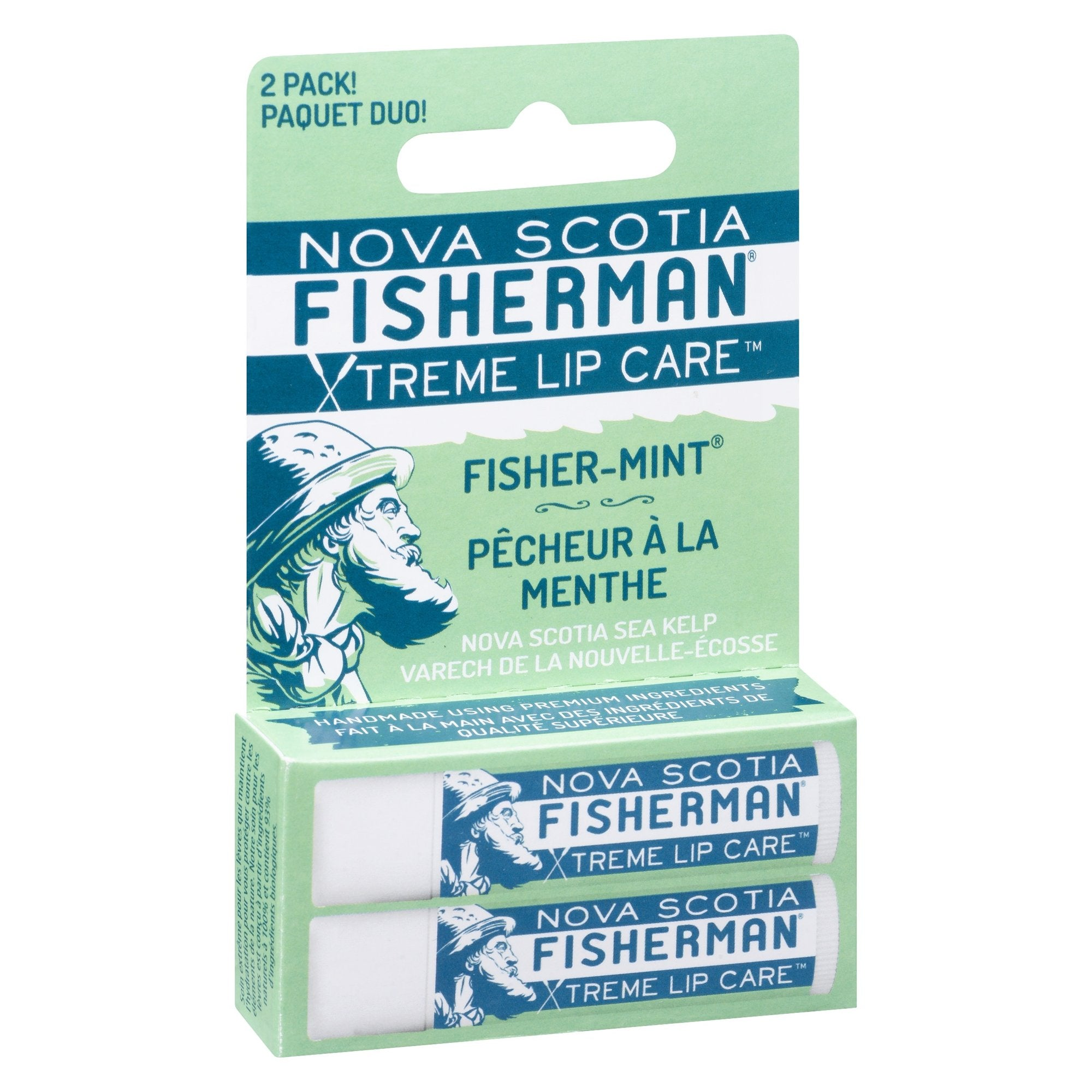 Nova Scotia Fisherman - Lip Care - Fisher-Mint - Pack of Two