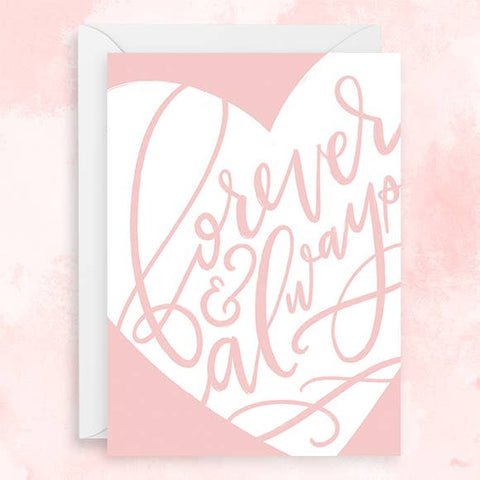 Hoopla Letters - Greeting Card - Forever & Always - Heart