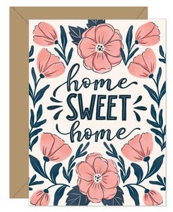 Hello Sweetie Design - Greeting Card - Home Sweet Home Beach Rose