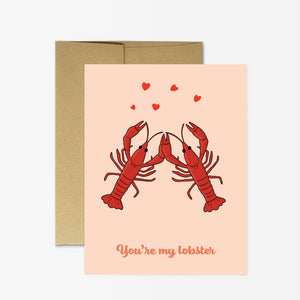 Party Mountain - Greeting Card - You're My Lobster