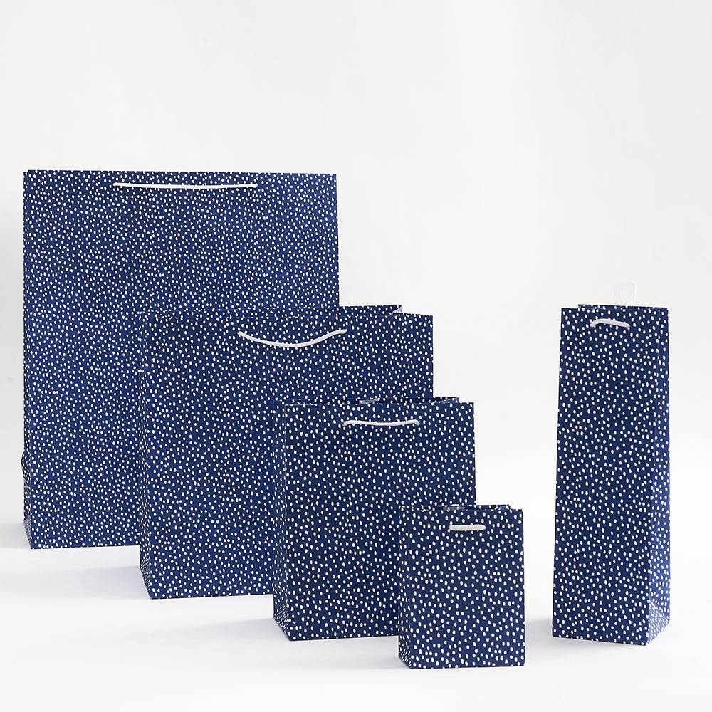 Paper Source - Small Gift Bag - Navy Flurry