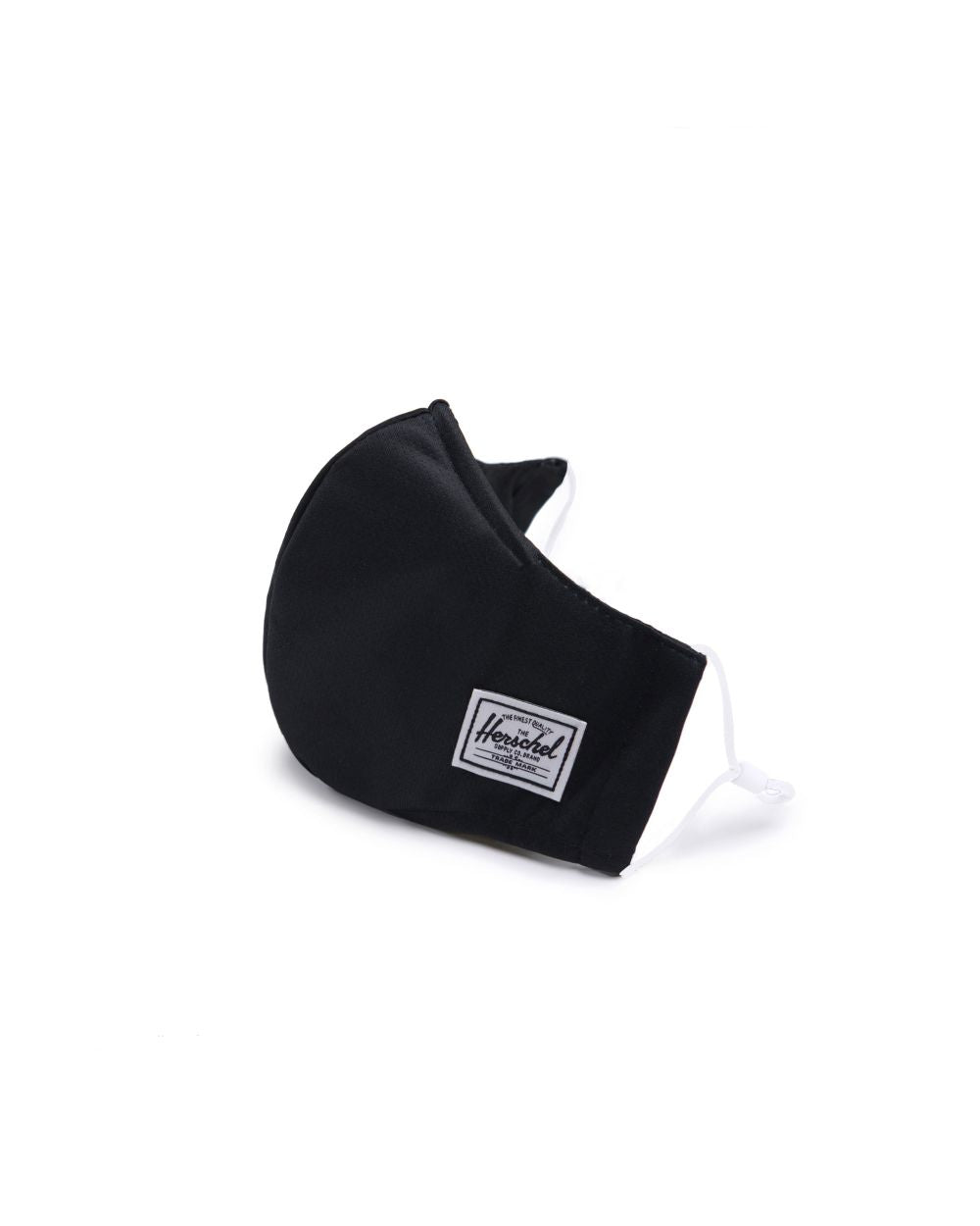 Herschel Black Classic Fitted Face Mask