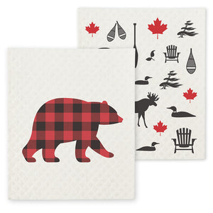 Swedish Dishcloths - Bear & Icon