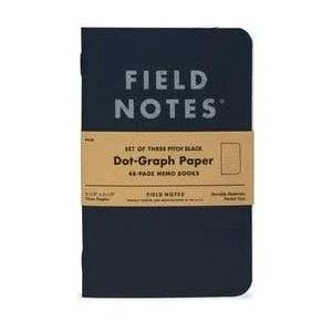 Field Notes - Notebook - Pocket - Black - Dot Grid