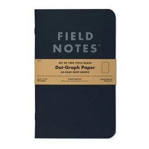 Field Notes - Notebook - Large - Black - Dot Grid