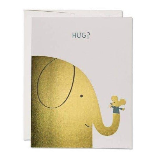 Red Cap Cards - Greeting Card - Elephant Hugs