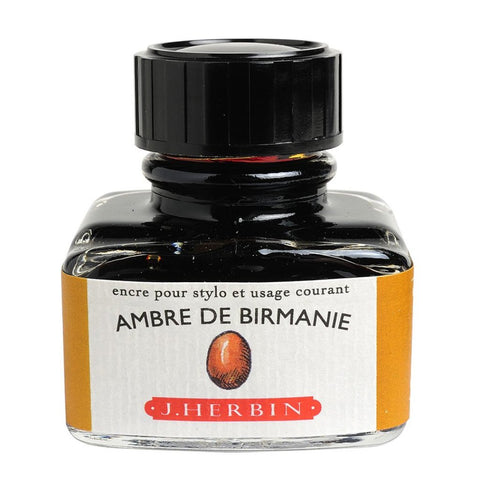 J. Herbin - Ink - 30ml Bottle - Ambre De Birmanie