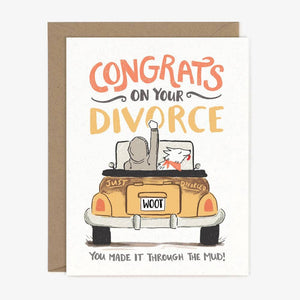 Paper Pony Co - Greeting Card - Congrats Divorce