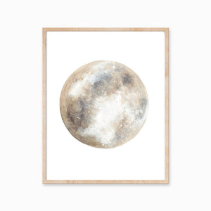 "Katelyn Morse - Art Print - Neutral Moon 8""x10"""