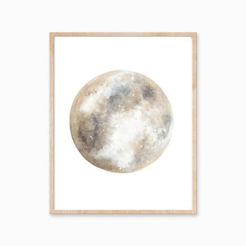 "Katelyn Morse - Art Print - Neutral Moon - 11"" x 14"""