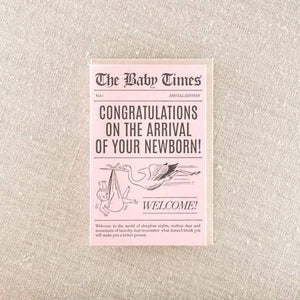 Pike Street Press - Greeting Card - The Baby Times - News Paper