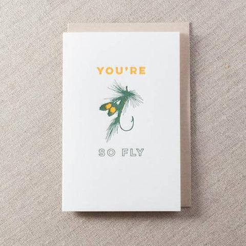 Pike Street Press - Greeting Card - You're So Fly - Bait