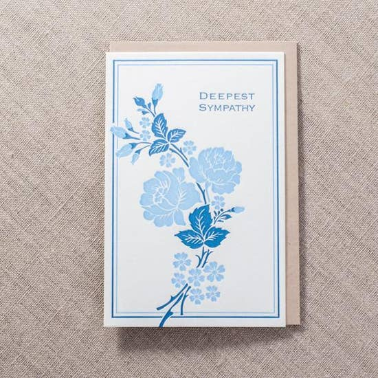 Pike Street Press - Greeting Card - Deepest Sympathy - Rose Branch