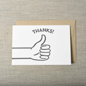 Pike Street Press - Greeting Card - Thumbs Up