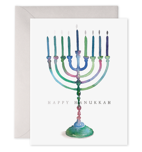 E Frances - Greeting Card - Colourful Menorah