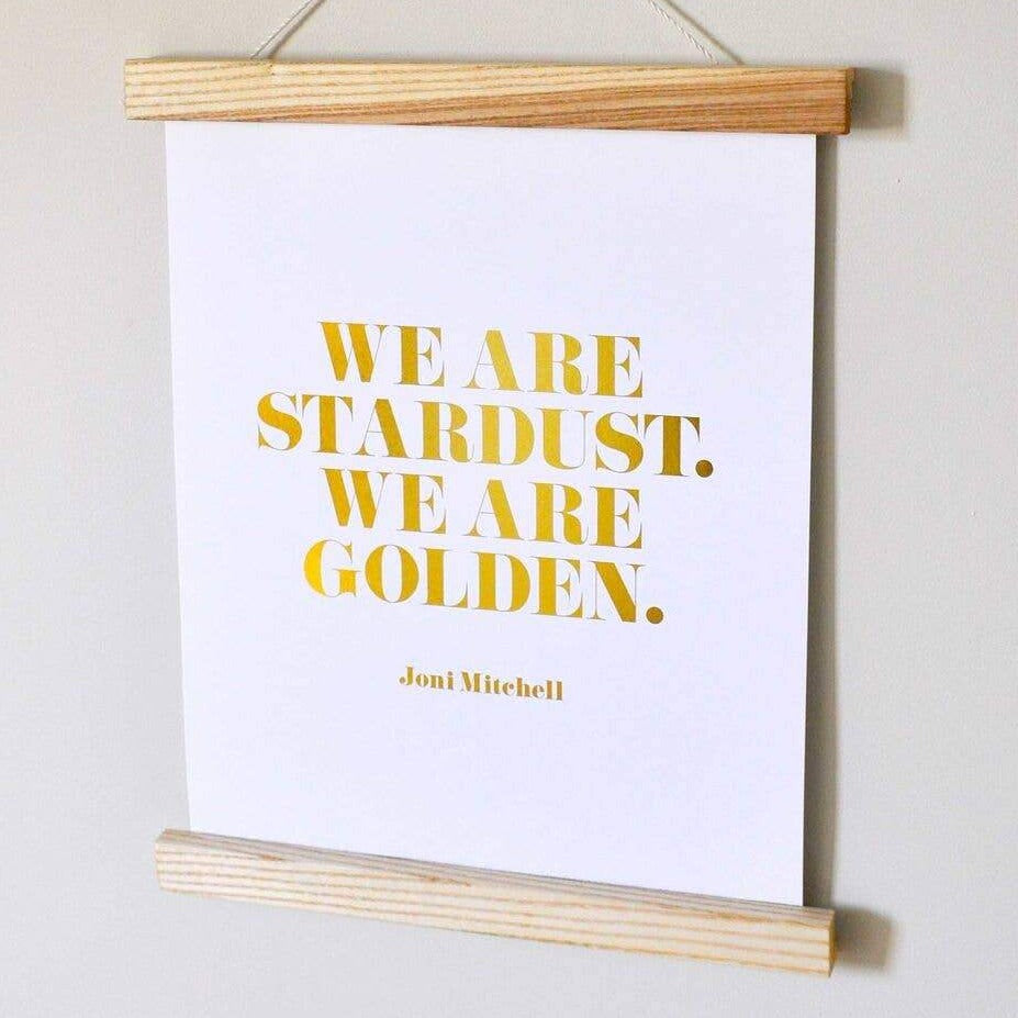 Swell Made Co. - Art Print - We Are Golden Gold Foil