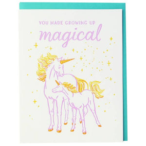 Smudge Ink - Greeting Card - You Made Growing Up Magical - Unicorns