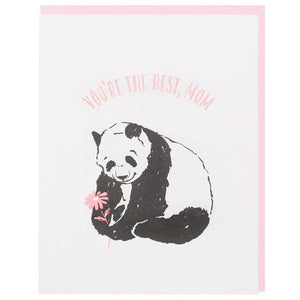 Smudge Ink - Greeting Card - You're The Best, Mom - Panda