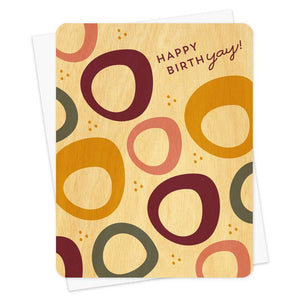 Night Owl Goods - Wooden Greeting Card - Bangles Birthday