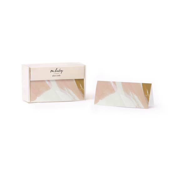 Our Heiday - Place Cards - Peach Skies