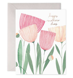 E Frances - Greeting Card - Blooms for Mom