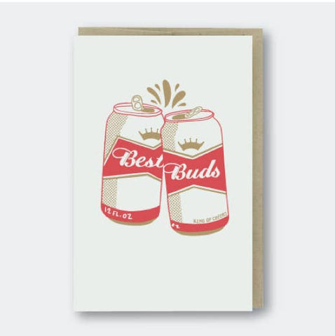 Pike Street Press - Greeting Card - Best Buds - Beer Cans