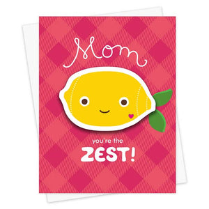 Night Owl Goods - Greeting Card - Sticker - Mom You're The Zest