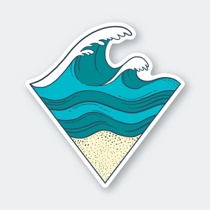 Pike Street Press - Sticker - Sand and Waves