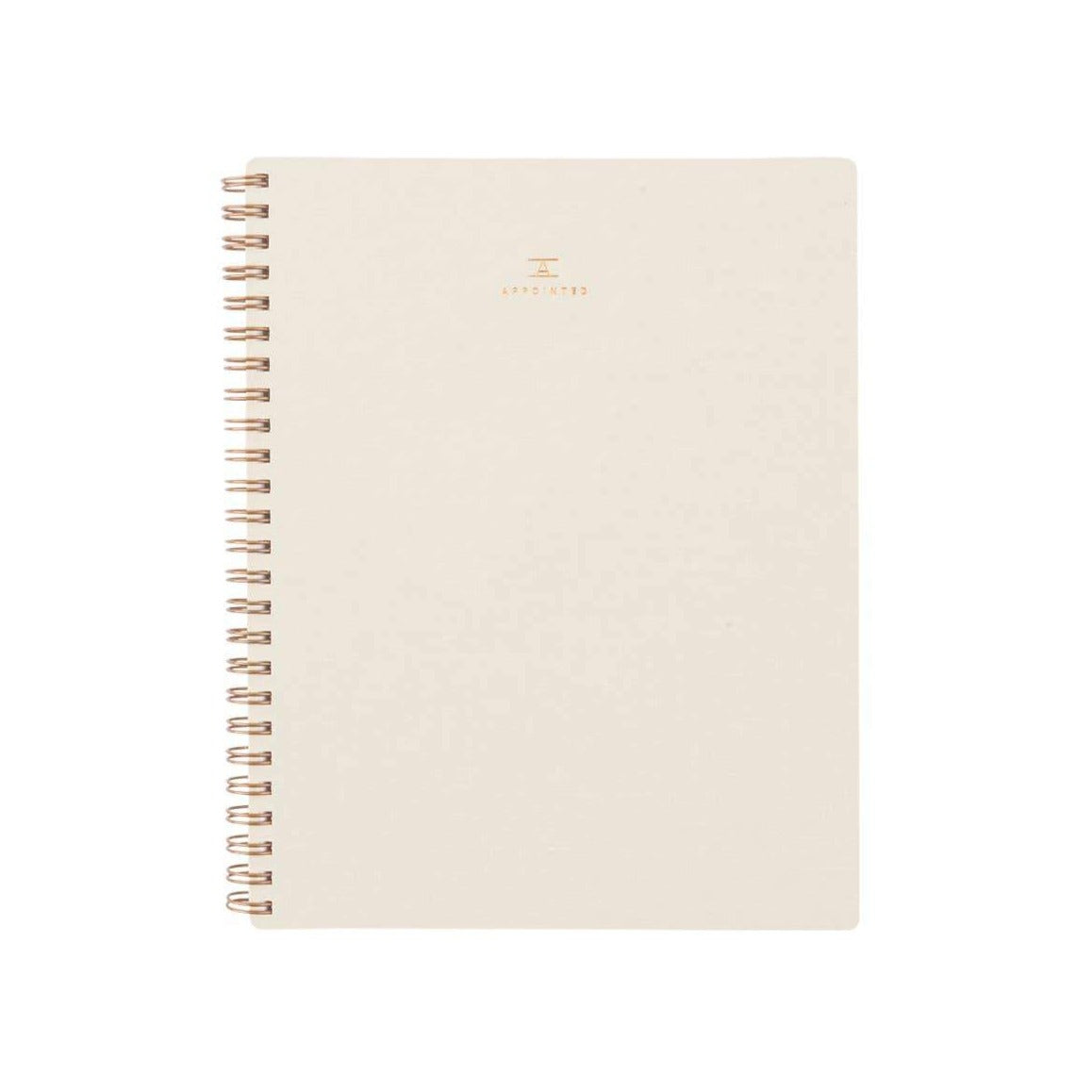Appointed Coiled Workbook Lined - Natural Linen