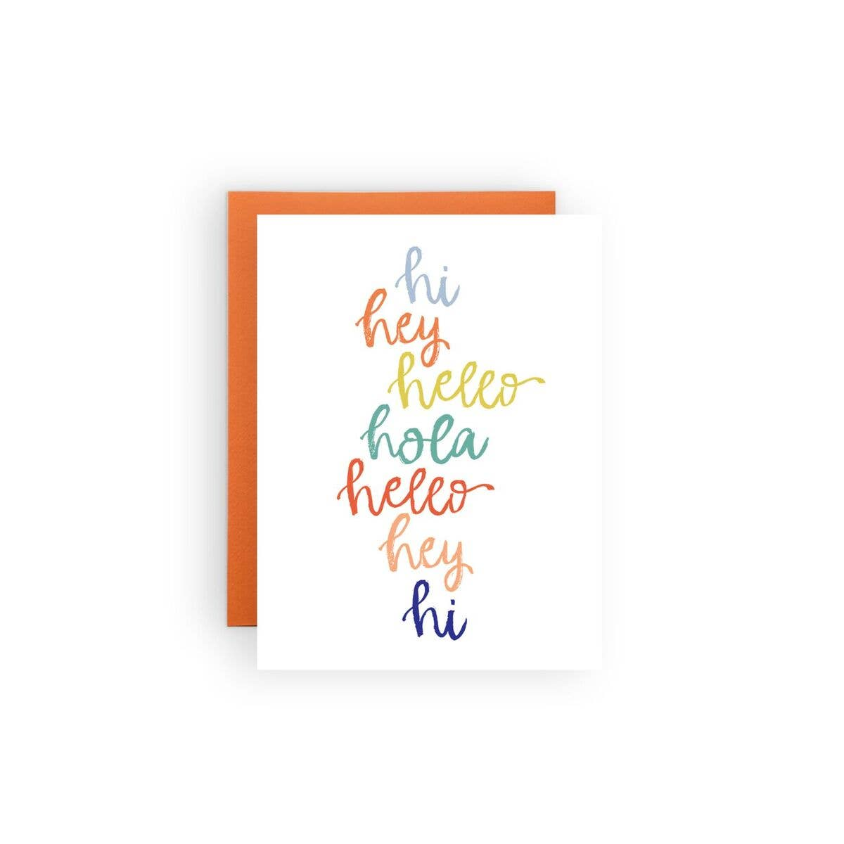 The Paper Curator - Greeting Card - Hi Hey Hello