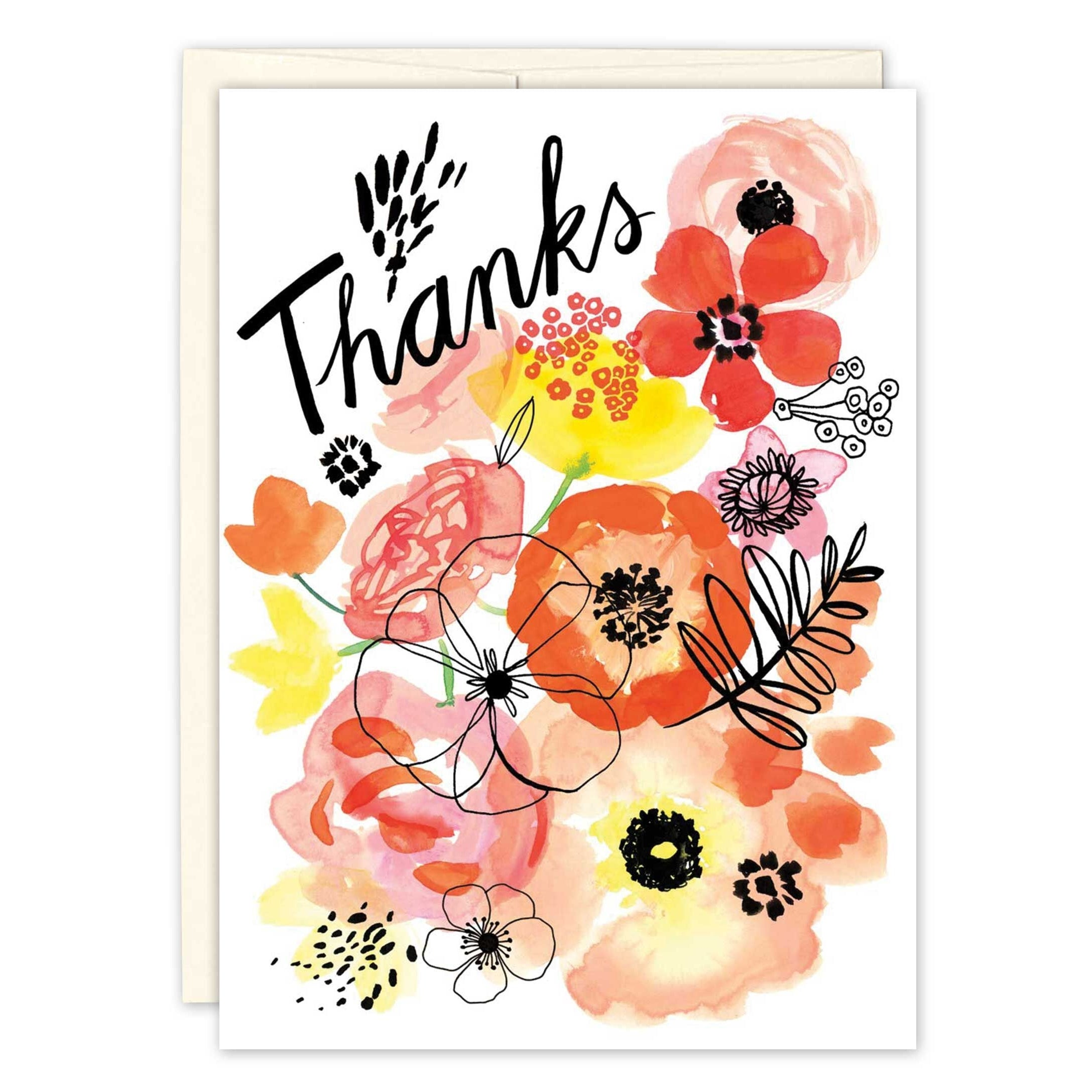 Biely & Shoaf - Greeting Card - Floral Thanks