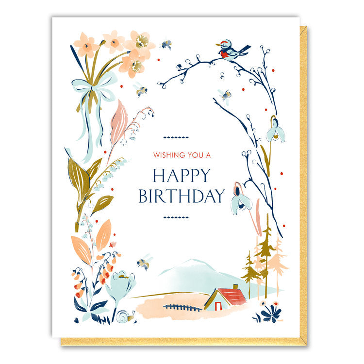 Driscoll Design - Greeting Card - Vignette Birthday