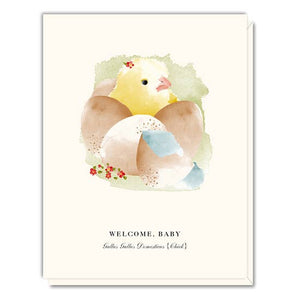 Driscoll Design - Greeting Card - Welcome, Baby - Chick