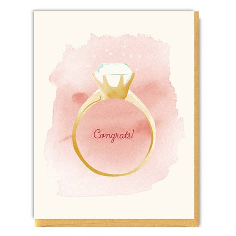 Driscoll Design - Greeting Card - Congrats - Engagement Ring