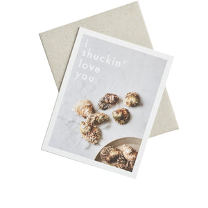 Knot & Bow - Greeting Card - Oyster Love