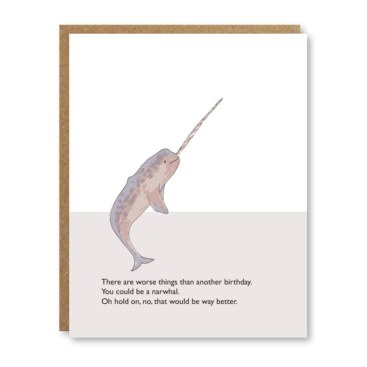 Boo To You - Greeting Card - Narwhal