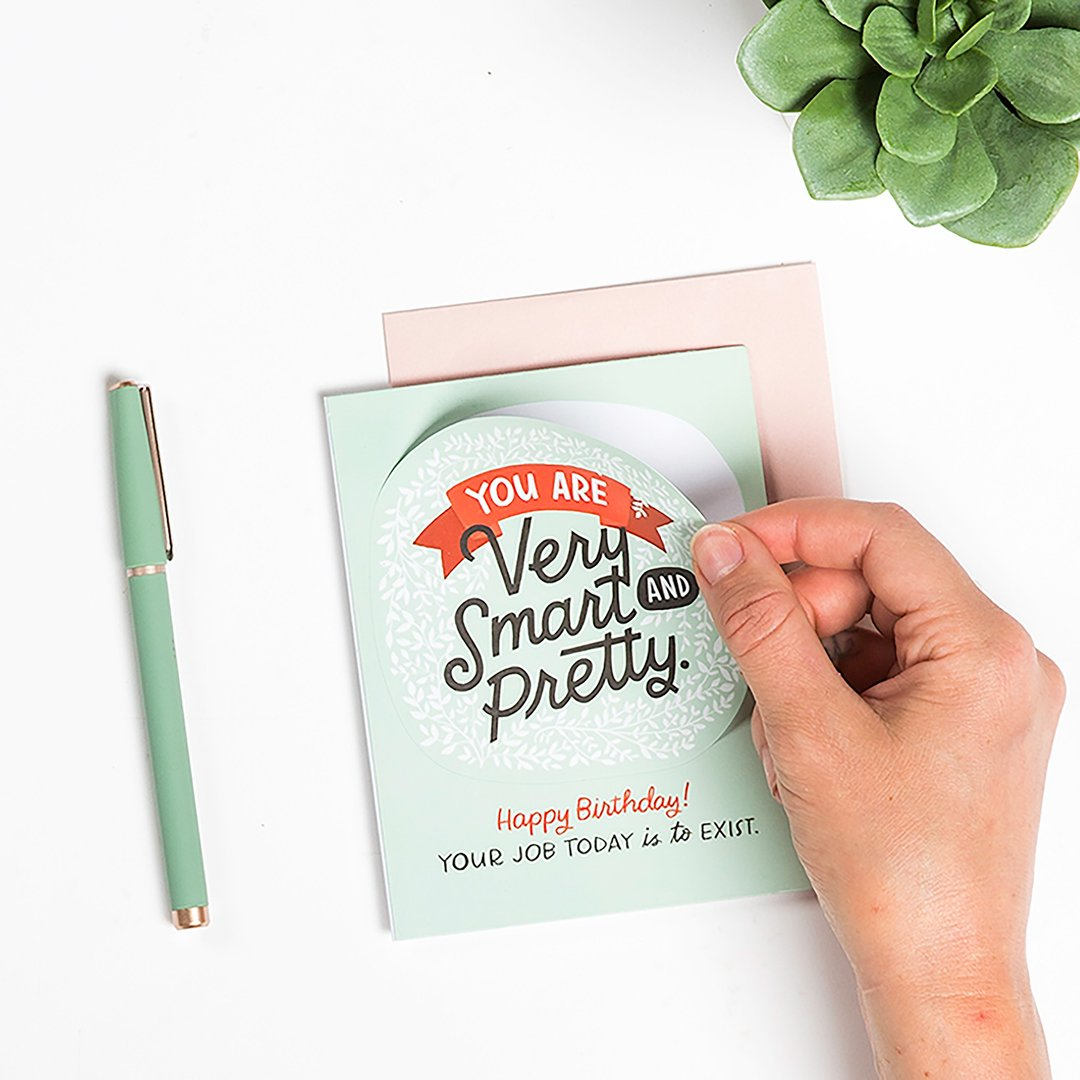 Emily McDowell - Greeting Card - You Are Very Smart and Pretty