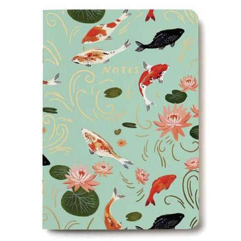 Red Cap Cards - Notebook - Koi Pond