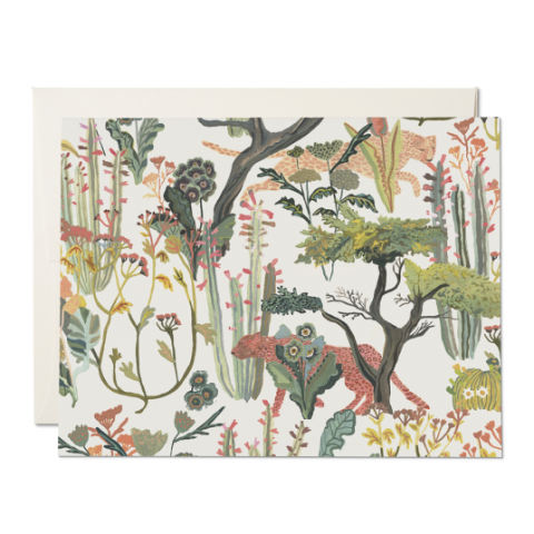 Red Cap Cards - Greeting Card - Jungle Safari