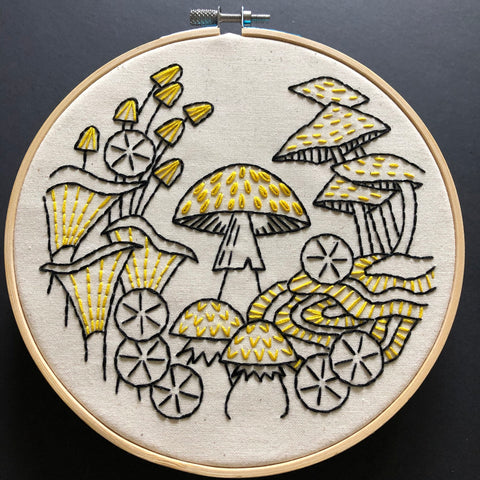 Hook, Line & Tinker - Embroidery Kit - Fungus Among Us
