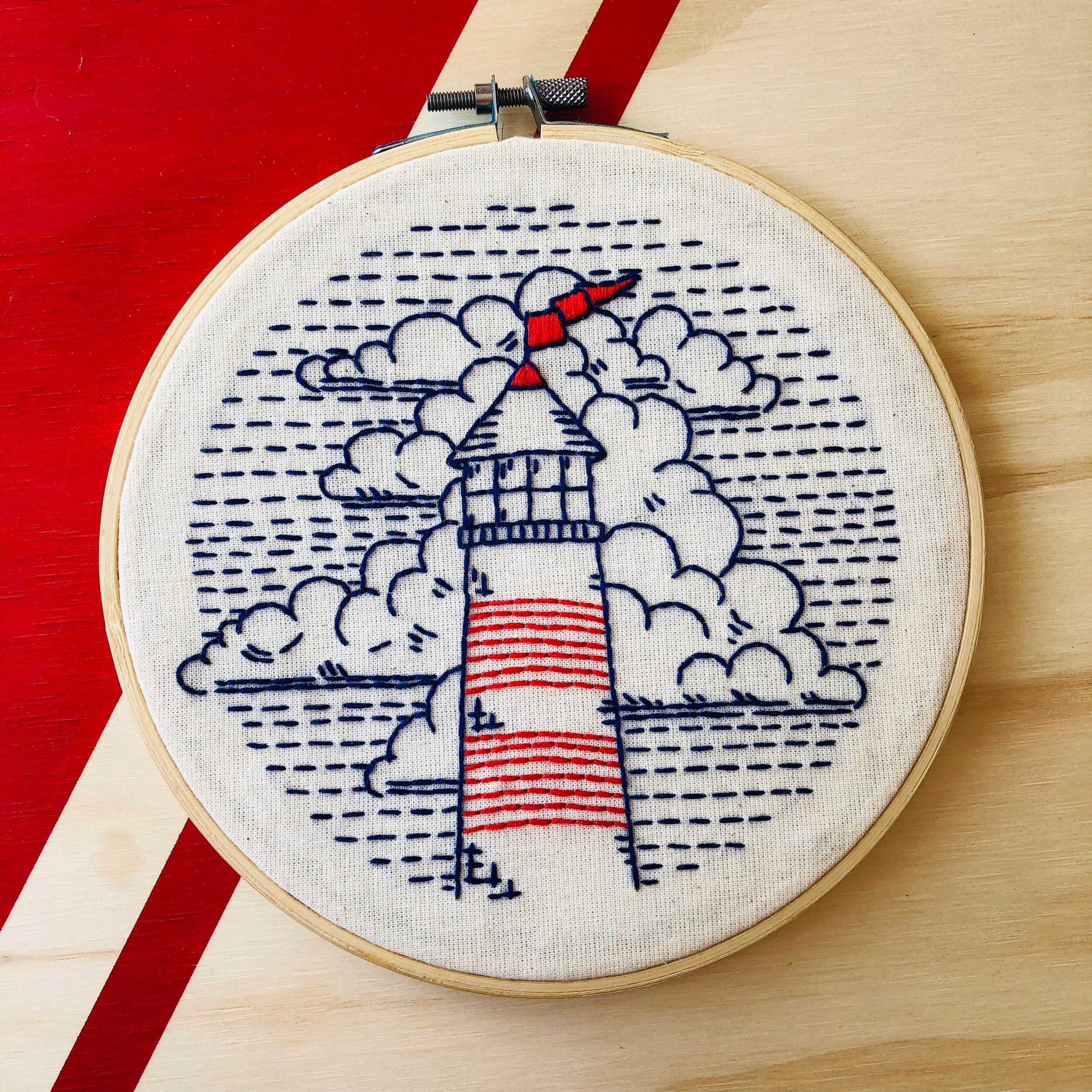 Hook, Line & Tinker - Embroidery Kit - Lighthouse