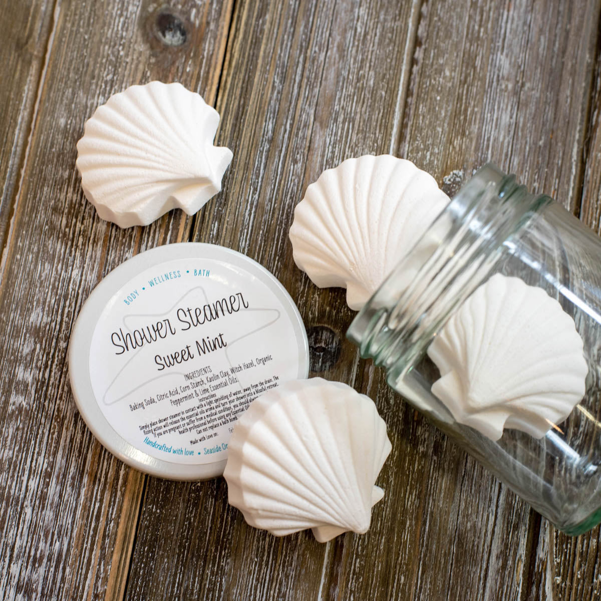 Seaside Organics Shower Steamers - Sweet Mint
