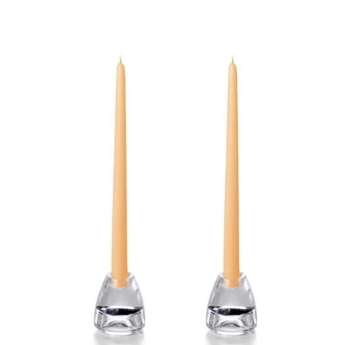 "Set of 12"" Taper Candles - Peach"