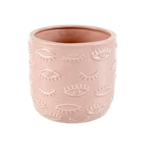 Indaba - Ceramic Pot - Eye For You - Pink