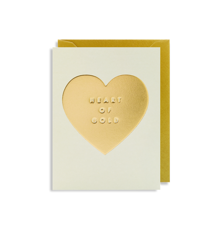 Lagom - Greeting Card - Heart Of Gold - Gold Foiled Heart
