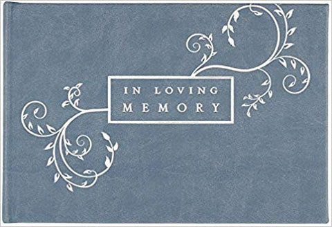 Peter Pauper - Guest Book - Slate Blue - 'In Loving Memory'